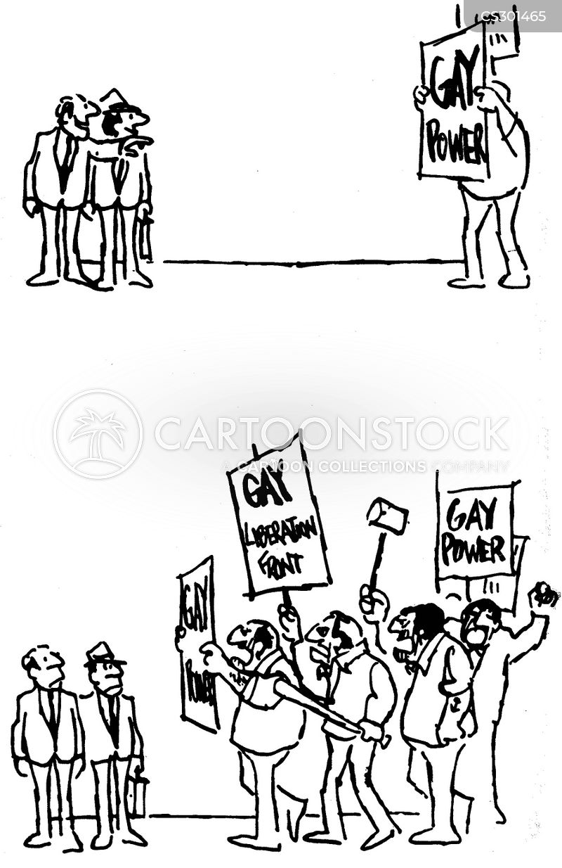 gay power cartoon