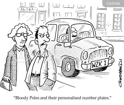 personalised number plates cartoon