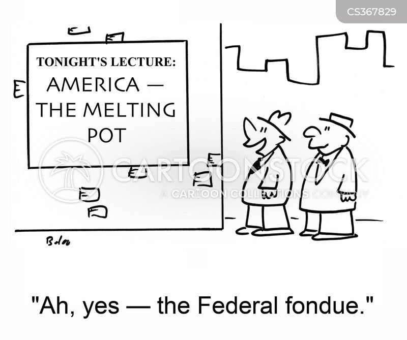 melting pot cartoon