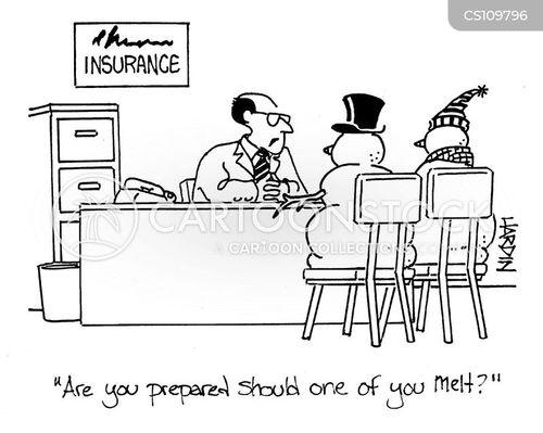 insurance agent cartoon