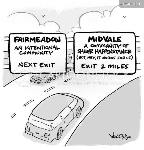 town cartoon