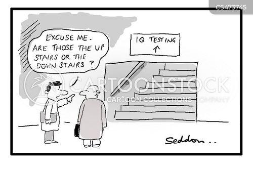 intelligence testing cartoon