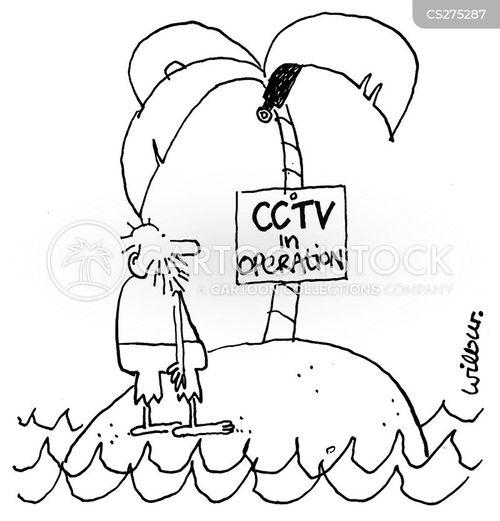 close circuit tv cartoon