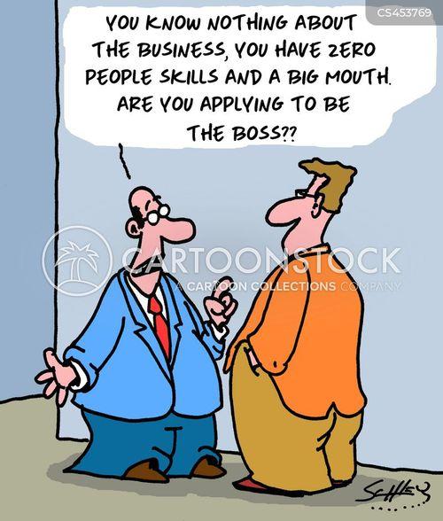 management material cartoon
