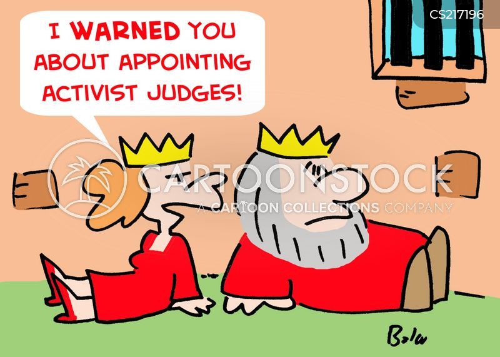 activist judge cartoon