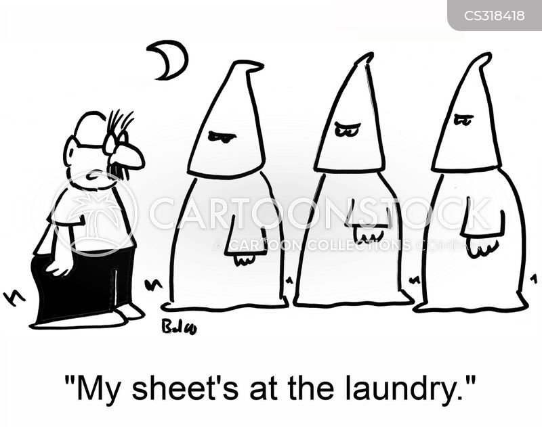 white robes cartoon