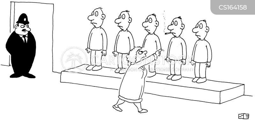 line-up cartoon