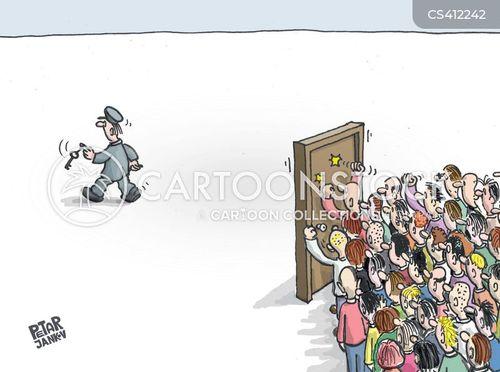 locked doors cartoon