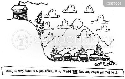 log cabin cartoon