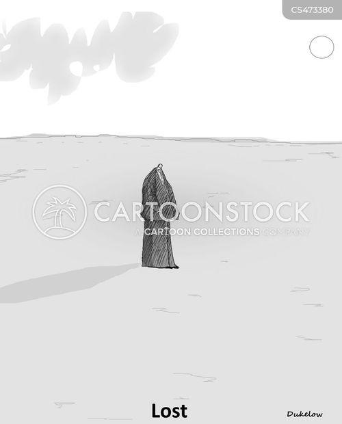 lostness cartoon