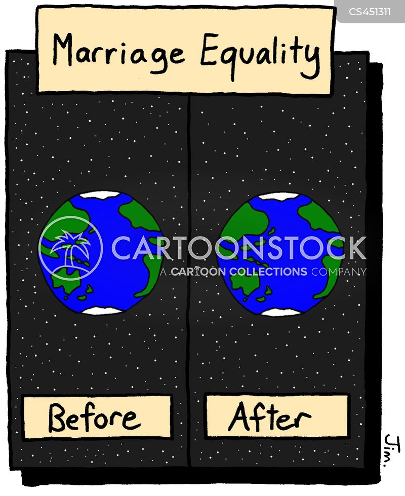before and after cartoon