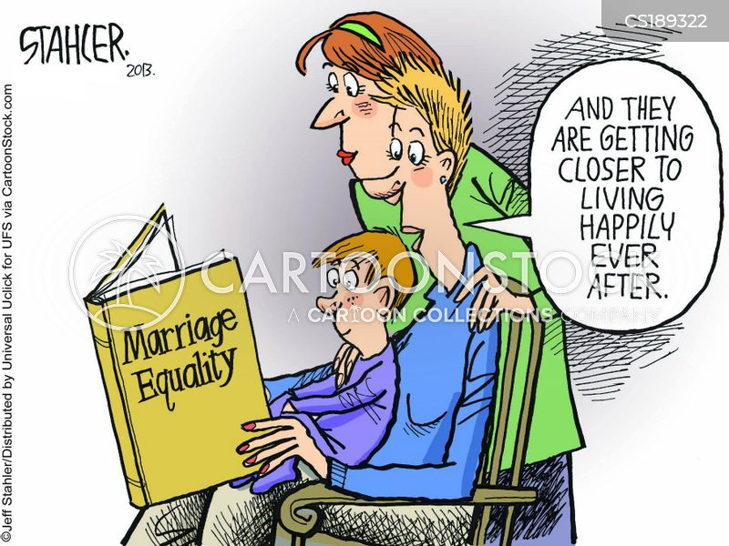gay marriages cartoon