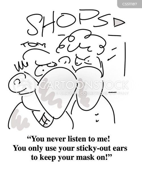 marital strife cartoon