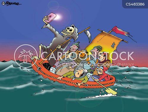 humanitarian crisis cartoon