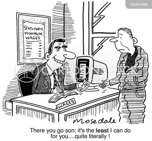 poor pay cartoon
