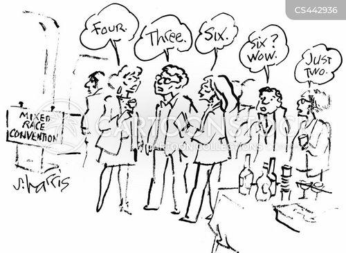 mixed-race cartoon