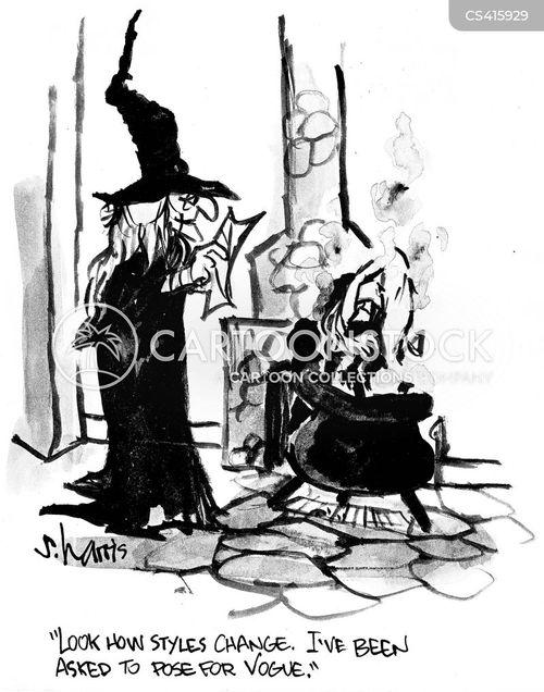 magazine cover cartoon