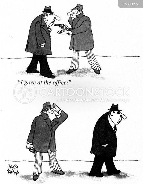 charity mugger cartoon