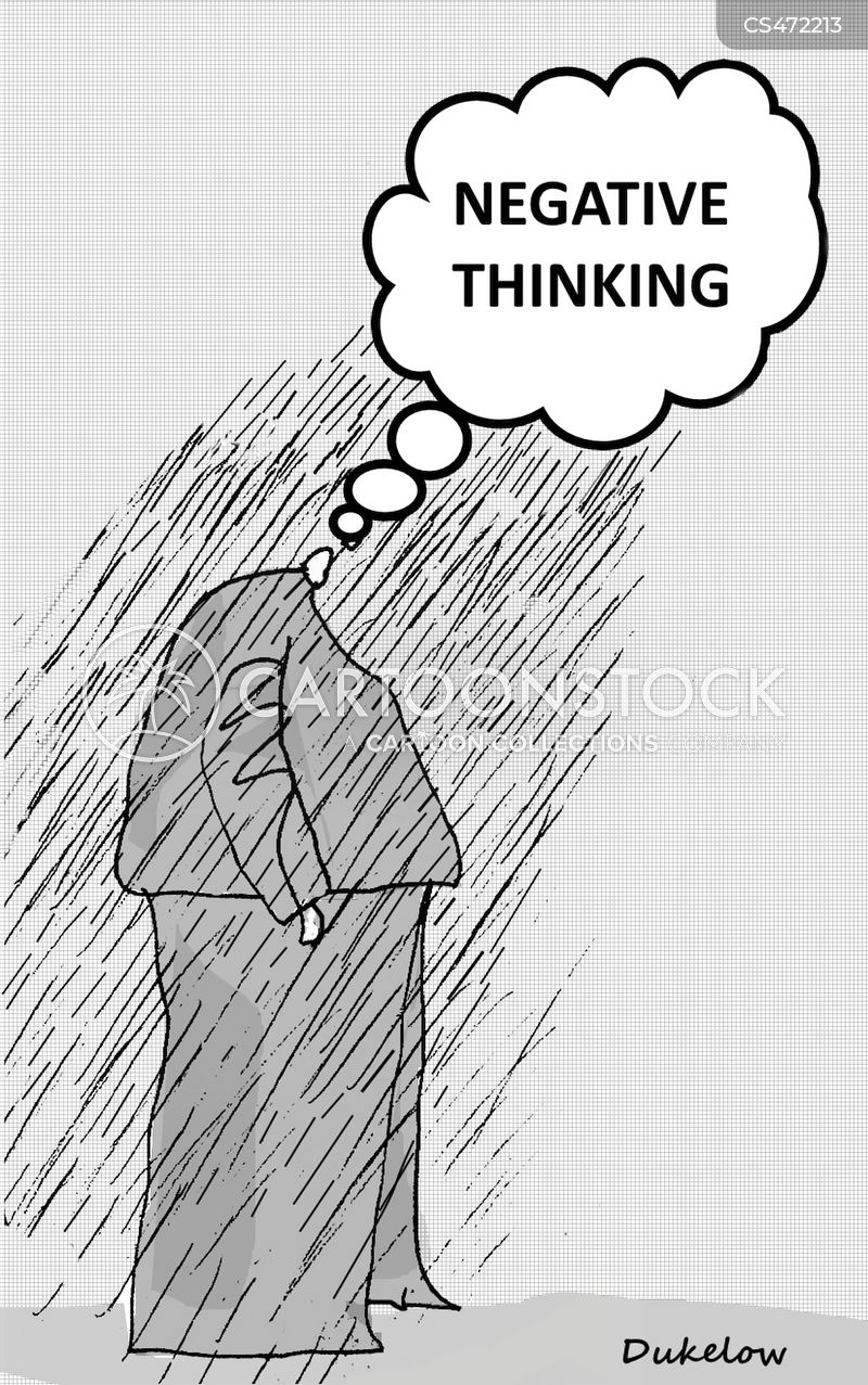 negative thoughts cartoon