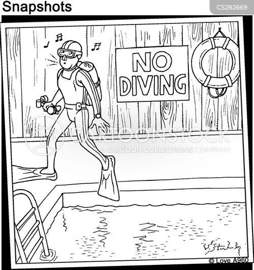 wetsuit cartoon
