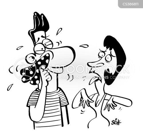 nose picker cartoon