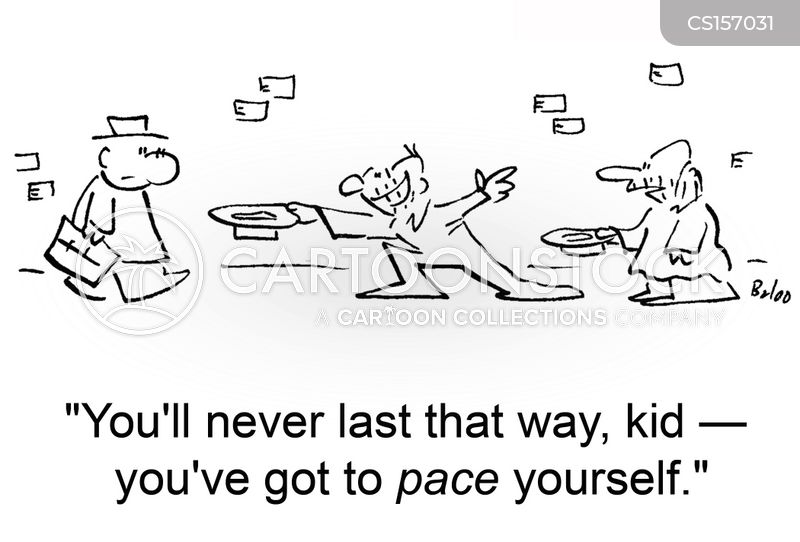 pace yourself cartoon
