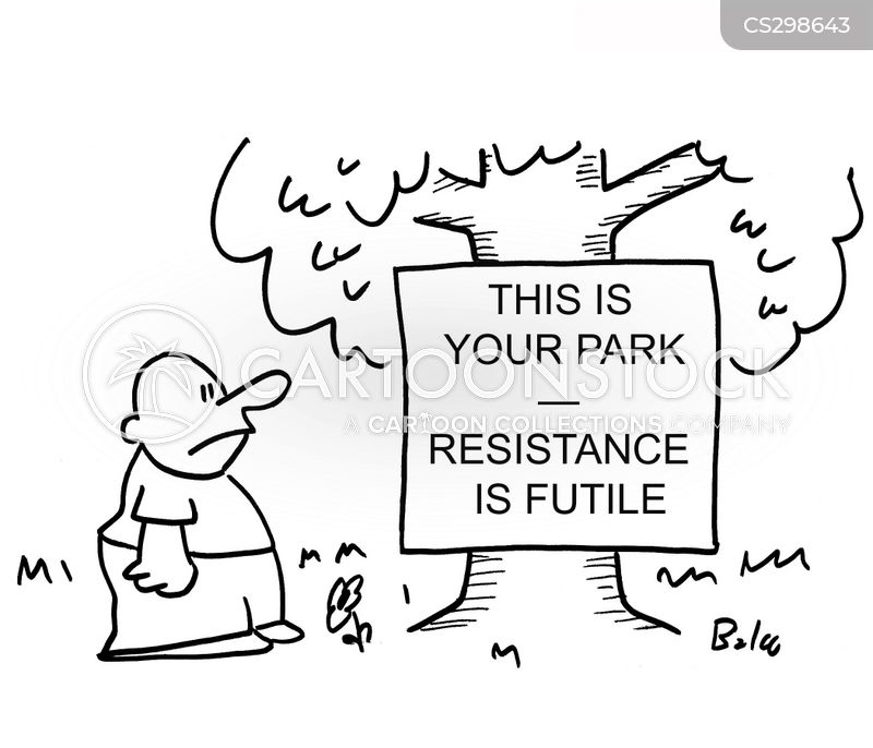 resist cartoon