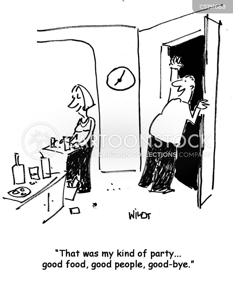 hosting parties cartoon