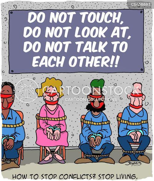 political conflicts cartoon