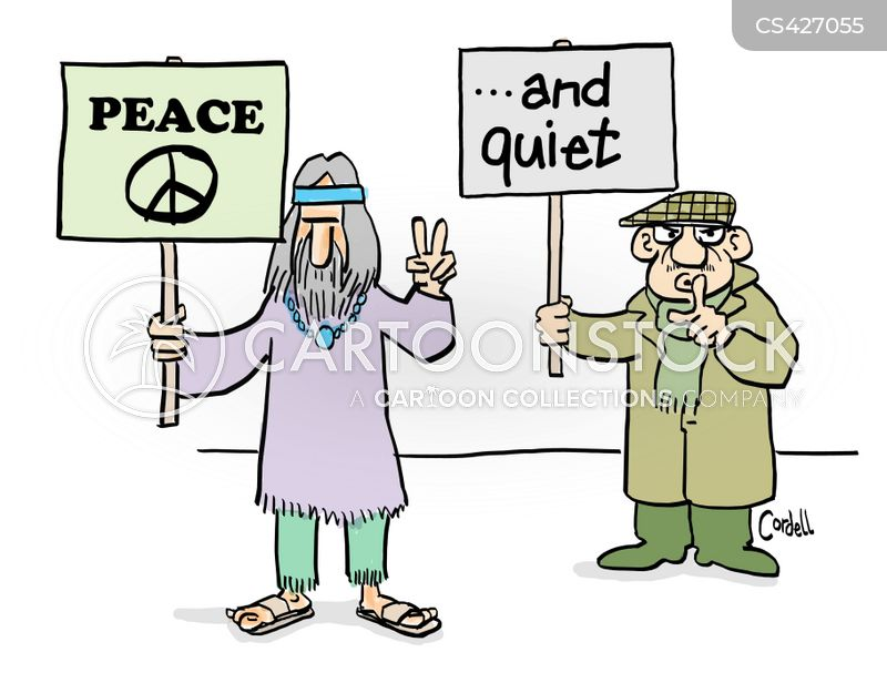 peacefulness cartoon