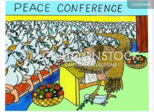 peace conferences cartoon