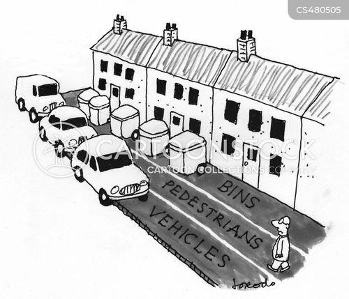 traffic lane cartoon
