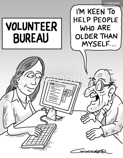elderly care cartoon