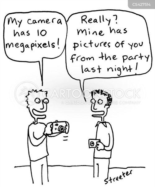 digital cameras cartoon