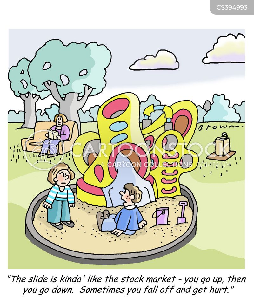 playground slide cartoon