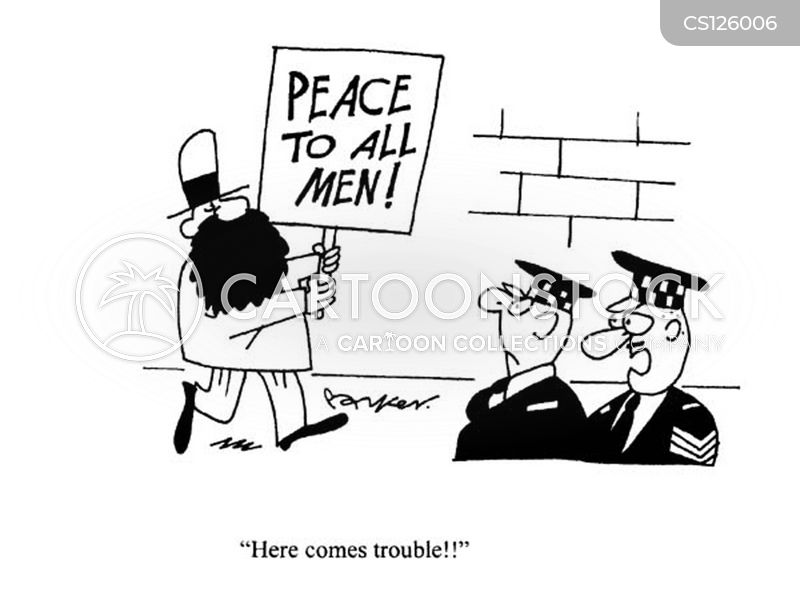 peaceful protests cartoon