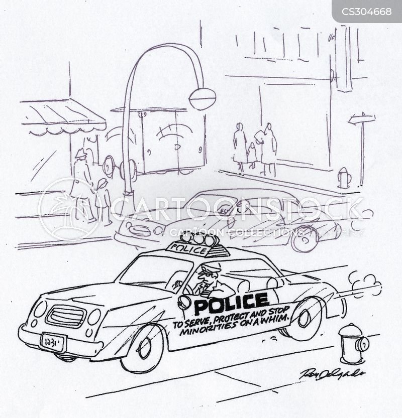 pulls over cartoon