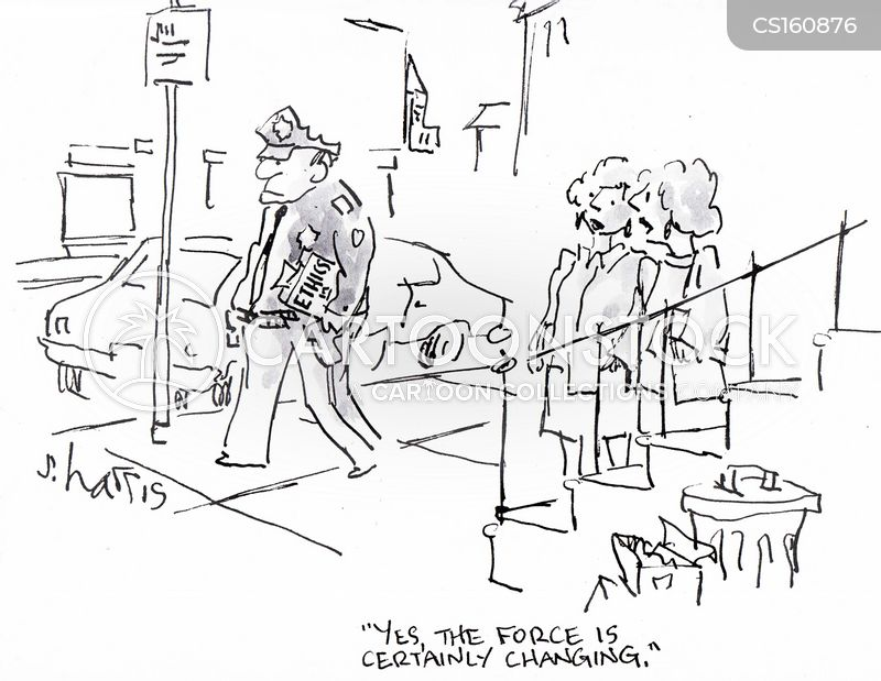 law enforcement officer cartoon