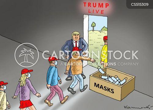 wear a masks cartoon