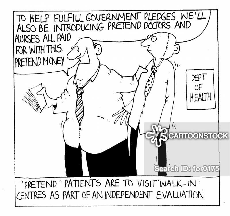 walk in clinics cartoon