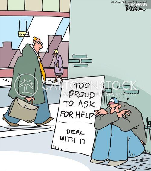 street begging cartoon
