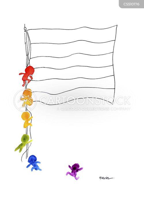 rainbow flags cartoon