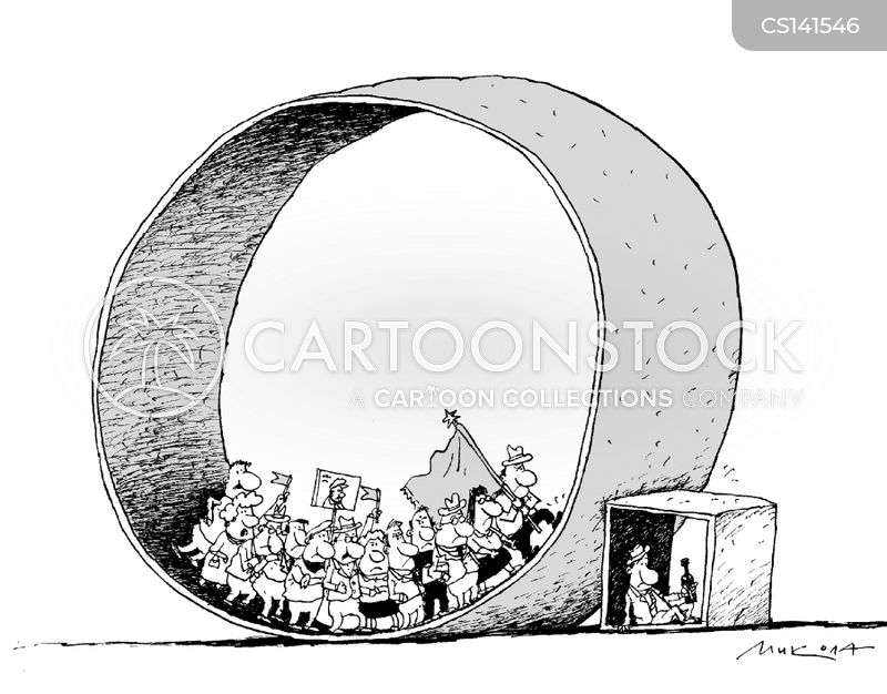 protest marches cartoon
