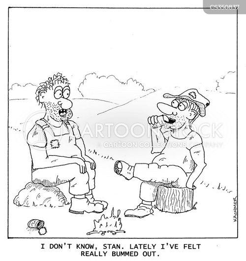 bummed out cartoon