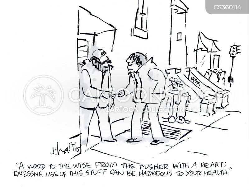 drug seller cartoon