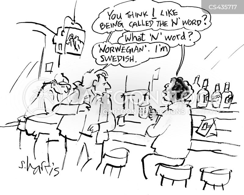 racial slurs cartoon