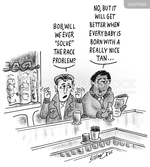 mixed race cartoon
