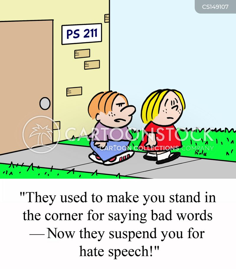 suspending cartoon