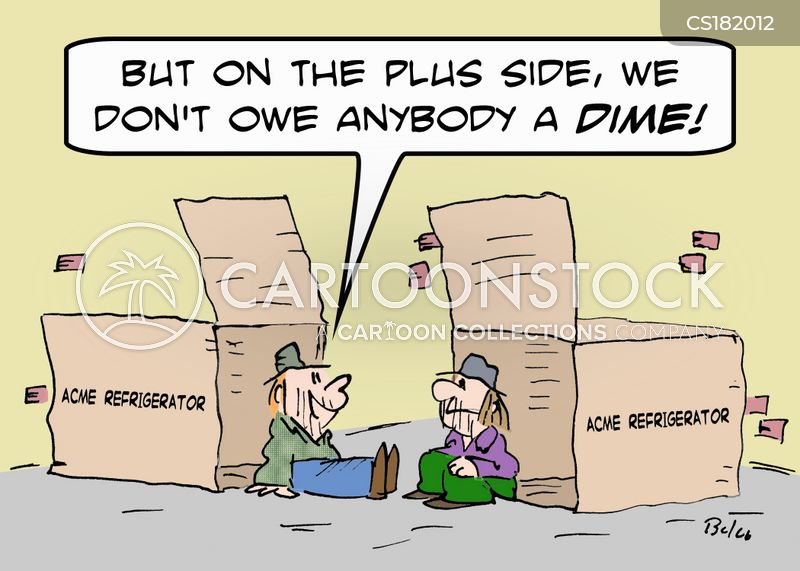 refrigerator boxes cartoon