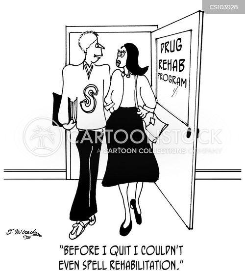 rehab program cartoon
